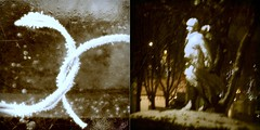 so cold a night meditation (andrefromont/fernandomort) Tags: winter snow rain night diptych hiver pluie neige meditation diptyque nuit mditation coldnight fernandomort andrfromont