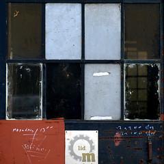 Monday 13.00 h (zeze57) Tags: door abandoned window glass metal rust geometry decay dirt tanner sq tanning oisterwijk urbex leatherfactory squareshot leerfabriek zeze57