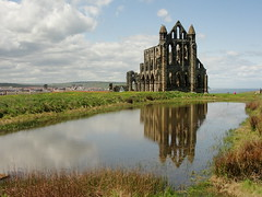 Whitby Abbey(s) (Moser's Maroon) Tags: reflection abbey pond whitby