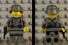 WWII Custom LEGO German Soldier (zalbaar) Tags: world trooper soldier army war call gun lego wwii german ww2 bullet decal grenade decals sherman brickarms zalbaar