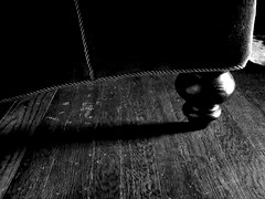 evening (rzhidov) Tags: wood shadow bw white abstract black moody floor couch