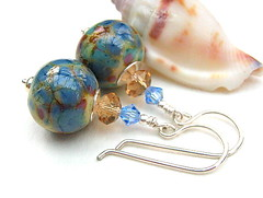Beachcomber (Beguiled By The Bead) Tags: jewelry jewellery earrings lampwork sterlingsilver
