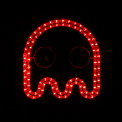 Blinky - Pac-Man Ghost Arcade Art Rope Light Display, Video Game, Beer Bar Pub Sign (OlympicHolidayLighting) Tags: geek ghost arcade wallart gamer pacman nightlight leds homedecor steampunk ledropelight outdoordecoration illuminatedart commericalquality