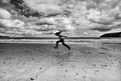 summer between the showers (zip po) Tags: ireland summer blackandwhite clouds mono child ardmore arttegacy