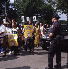 Silent March Against Stop & Frisk, 06.17.2012 (triebensee) Tags: park new york city against june zeiss march day silent harlem central protest police nypd hasselblad stop 99 17 avenue brutality f28 fathers racial frisk 2012 fifth profiling planar 80mm 500cm ows occupy fujichromeprovia400xrxp occupywallstreet occupywallstreetnyc