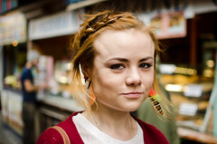 Emily (50/100) (drmaccon) Tags: portrait london 35mm prime emily nikon camden feather earring streetportrait style stranger braid 100strangers d5100 drmaccon