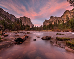 Yosemite Valley View Sunset (Jeffrey Sullivan) Tags: park sunset copyright nature clouds canon river landscape photography photo nationalpark long exposure village mark iii merced national valley yosemite april 5d yosemitenationalpark 2014 yose yosemite150 caliparks