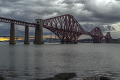 At The End of the Storm (Colin Myers Photography) Tags: bridge sunset storm colin clouds photography edinburgh moody south rail railway stormy forth firth myers forthbridge queensferry southqueensferry forthrailbridge moodyclouds colinmyersphotography wwwcolinmyerscom