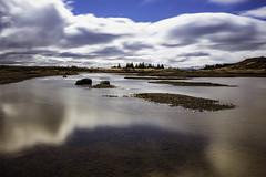 Reflective (aerojad) Tags: longexposure travel vacation clouds reflections river landscape iceland wanderlust valley thingvellir þingvellir riftvalley goldencircle daytimelongexposure iceland2016
