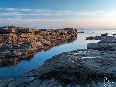 Golden Rocks (brianlavelle85) Tags: spanishpoint clare landscape beach rocks rocky goldenhour golden goldenrocks longexposure 10stop nd1000 brianlavelle sunset ireland gh4 lumix seascape