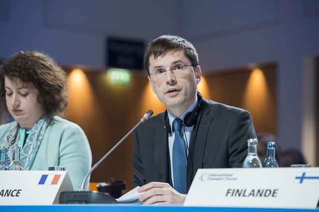 Philippe Geiger speaks at the Closed Ministerial Session