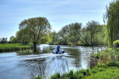 The River Great Ouse near Huntingdon (Explored) (Baz Richardson) Tags: rivers cambridgeshire huntingdon rivergreatouse smallboats watermeadows explored