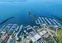 #coconutgrove #coconutgrovemarina # (digitalHustler) Tags: ocean city sunset 2 beach sunrise florida miami south phantom uav drone dji gopro hero4