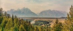 AIN'T NO MOUNTAIN HIGH ENOUGH... (Irene2727) Tags: trees panorama mountains nature water clouds river landscape outside flora snake pano wyoming grandtetons tetons scape mountainscape