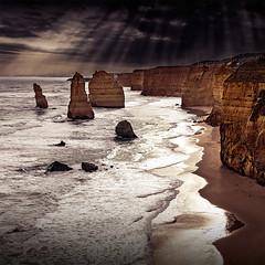 Light on the Apostles (Leanne Cole) Tags: seascape landscape coast photographer photos australia images victoria environment sunrays 12apostles fineartphotography environmentalphotography fineartphotographer nikond800 environmentalphotographer leannecole leannecolephotography
