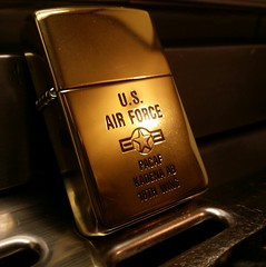 Zippo U.S Air force Limited edition (J.Jake) Tags: beauty dark fire gold cool nice raw flame lighter airforce epic zippo sigarette