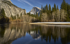 Half Dome, Yosemite NP (swissukue) Tags: california usa mountain reflection river landscape sony yosemite halfdome np a7 goldcollection ilce7