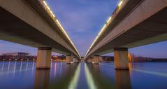 Winter's Morning Canberra (Robert Willmett) Tags: bridge winter overpass canberra avenue commonwealth act