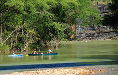 Leaving Ponca - Kayakers , Canoeists, and Paddle Boarders on Buffalo River, Northwest Arkansas (danjdavis) Tags: canoes arkansas kayaks canoeists kayakers buffaloriver padleboarders buffalonatikonalriver