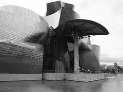 Bilbao - Guggenheim art museum (JohnVenice) Tags: blackandwhite art museum architecture spain bilbao franklloydwright espana guggenheim