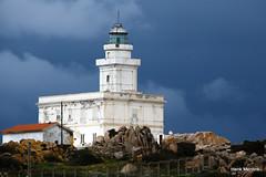 Lighthouse (Hengelo Henk) Tags: sardegna sea italy water landscape rocks sardinia outdoor capo italie mountai testa mediterranee sardini
