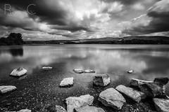 Hollingworth 12 (PixellMate) Tags: sky lake monochrome clouds landscape reservoir 12mm hollingworthlake littleborough samyang