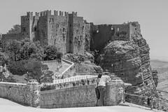 Erice, Castello Pepoli (kurjuz) Tags: castellopepoli erice italia italy sicilia sicily blackandwhite castle fortifications historic medieval