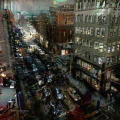 Panic Overload (Stacy Ann Young) Tags: oregon photomanipulation portland cityscape digitalart pdx anxiety