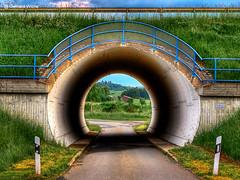 Looking through the tunnel (GerWi) Tags: road park nature outdoor natur hell tunnel architektur landschaft rund blick weg bogen kreis durchblick strase durchfahrt