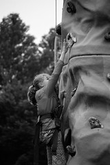 Determination - Reaching for the Next Handhold, Scouts Climbing Wall