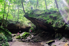 On Top of Wedge Rock (Tom Gill.) Tags: statepark hiking indiana canyon turkeyrun parkecounty wedgerock