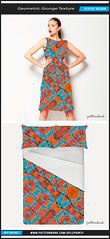 Geometric Grunge Textile Pattern (Daniel Ferreira-Leites) Tags: blue orange abstract geometric print design pattern vibrant grunge style tribal sharp textile geometrical tribe ethnic borders bold patterned patternbank
