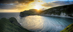 Lulworth sunset (OutdoorMonkey) Tags: sunset sea sun beach sunshine rural bay coast countryside chalk seaside cove coastal shore dorset inlet seashore jurassic lulworth lulworthcove peplerspoint