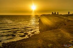 Conil. Spain (Antonio Camelo) Tags: sunset sea sky sun sol photo sand nikon colours playa colores cielo puesta acantilado conil cliif