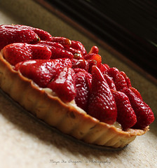 Strawberry Tart !  (    ) Tags: light red food cute fruits fruit yummy tag strawberries tart
