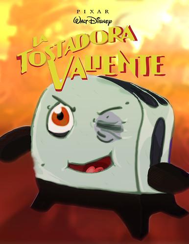 poster cover pixar valiente tostadora