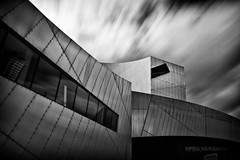 306|365 The Imperial War Museum North (IWMN) Daniel Libeskind (PeterChinnock) Tags: uk cloud white black museum architecture clouds silver project manchester movement war long exposure day daniel north architect filter nd imperial pro 365 libeskind salford quays 306 mediacity efex peterchinnock