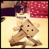 Breakdancing (aebphoto) Tags: pose michiganstateuniversity msu breakdancing frommyphone iphone danbo peanutbarrel eastlansingmi revoltechdanbo iphone4s worldofdanbo