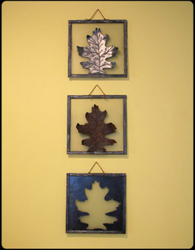 Three Leaves Steel Wall Art