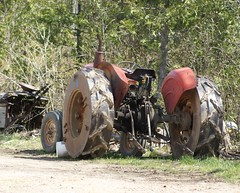 2012-04-22_Mennonite Tractor (Mark Burr) Tags: holyrood fields farms tractors mennonite steelwheels brucecounty oldordermennonite