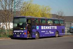 SIL6427, Market Drayton 28/03/12 (MCW1987) Tags: coach van scania alize hool bennetts sil6427