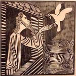 "<b>Noah</b><br/> Gerhard Marcks (1889-1981) ""Noah"" Woodcut, 1948 LFAC #474<a href=""http://farm8.static.flickr.com/7222/7045955593_c0e20b724c_o.jpg"" title=""High res"">∝</a>"