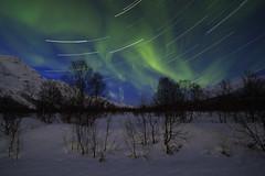 aurora startrail (themanfromicon) Tags: longexposure sky norway night stars arctic aurora northernlights auroraborealis tromso startrail eiscat fagernes
