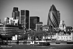 London (Jonathan.Russell) Tags: white black london architecture canon boat riverthames thegherkin 40d jonathanrussell jonooter