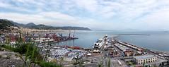 Salerno. Panoramica del porto (R come Rit@) Tags: city sea italy marina boats italia mare barche porto promenade lungomare salerno citta porti commercialport ritarestifo
