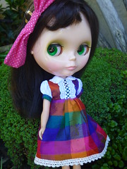 Eloise got first dibs on this amazing little raw silk dress from Tomaticopartio!