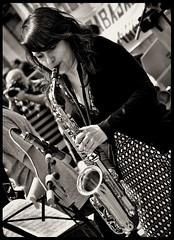 Rosa, alumna de saxofn. Escuela Municipal de Msica, Valladolid. (ngela Vizcano) Tags: valladolid escuelamunicipaldemsica ngelavizcano