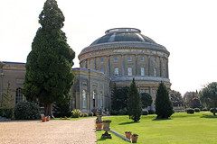 Ickworth House Rotunda rear (FlyingV99) Tags: park trees music house lake clock church monument kitchen st garden vineyard library room workshop dining rotunda summerhouse ovens ickworth national trust quarters bury edmunds servants