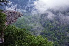 Up In The Clouds on Hawksbill Crag / Whitaker Point in the Ozark Mountains, Arkansas (Jeka World Photography) Tags: world travel trees cliff mist mountains weather fog forest landscape photography nikon ledge arkansas overlook ozarks ozarkmountains boxley ponca landscapephotography hawksbillcrag whitakerpoint ozarknationalforest d7000 nikond7000 mygearandme jekaworldphotography jeffrosephotography