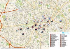Berlin printable tourist attractions map